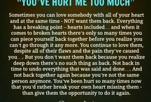 u have hurt me....
