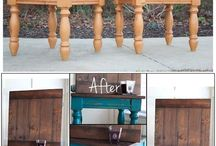 Home Decor DIY / Repurposing old furniture to look like new... or old, but always better!