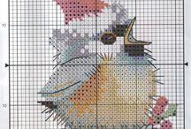 птицы вышивка