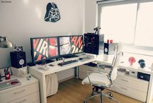 Domowe miejsce pracy programisty / Sposoby organizacji miejsca pracy dla programisty pracującego w domu ('bedroom coder')