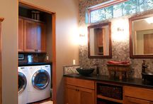 Bathroom/laundry combo