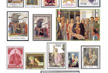 Piero della Francesca (1419-1492) / Francobolli.  Giocare con Piero della Francesca, Cristo e le Poste internazionali