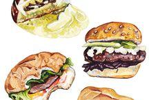 Food Drawings / just drawings of diverses kinds of food.