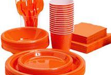 Orange engangsservice / Her kan du finde et stort udvalg af vores orange engangsservice til din fest.