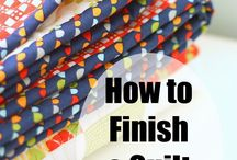 Finish and binding a quilt
