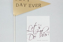 I do! ❤️ / Inspirational pins for brides.  / by Michaela Ford