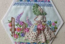 Crinoline lady hexi and lace