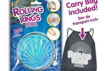 Kinetic Rolling Rings