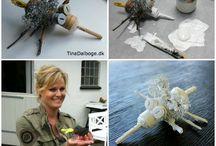 Billeder med blandede materialer / Inspiration til undervisere i håndværk og design