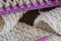 Loom knitting scarf