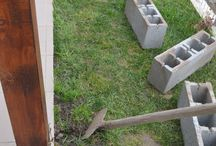 How to make a patio border / Making a patio border using concrete slabs just perfect for summer flowers to live in