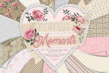 First Edition Perfect Moments / Capture all of those Perfect Moments with First Edition's romantic papercraft collection, designed by Katie Pertiet. Adorned with vintage florals, delicate lace-inspired designs and charming repeat patterns, this selection of romantic papers features a chic dusky pink and cream colour palette, making this a versatile paper pack for beautiful handcrafted projects.
