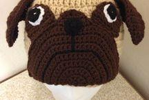 crochet hats pugs