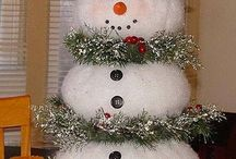 Christmas and snow man / Xmas crafts