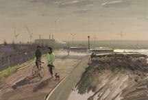Paintings by Tom Hugues
