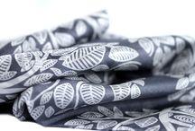 Grand foulard épais en soie