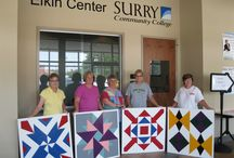 Barn Quilts / Surry Community College offers Barn Quilt classes. These colorful, wooden quilt blocks adorning barns, sheds, and even houses are adding interest along roads in Surry and Yadkin counties. Students may make a 2' x 2', 3' x 3', or 4' x 4' wooden barn quilt block. Interested persons should call Terri Cockerham at (336) 386-3244 or Sonnie Hardy (336) 386-3229. / by Surry Community College