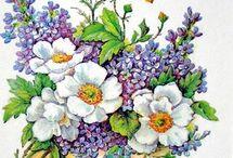 рисунки цветы