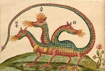 Myth + west medieval + early modern beasts + fan
