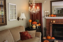 Fabulous Fall Living Rooms / Find your autumn inspiration from these living rooms. Don't forget custom upholstery in warm tones like orange, red, yellow, brown and green!