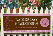Ladies Day in Lawrenceburg / The Annual LADIES DAY in Lawrenceburg is a shopping day set aside each May, just for the ladies in our community. Hundreds of Ladies participate each year and have the time of their lives. Shopping, eating and winning great prizes is enjoyed by all.