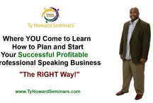 """Become A Motivational Speaker / Resources, Tips, Strategies, Learning Products, Consulting, and Coaching from Ty Howard (CEO of Ty Howard Seminars, National Motivational Speaker, Best-Selling Author, and CEO of the online magazine, MOTIVATION), on how to plan, start, establish, develop, and grow a successful profitable speaking business """"The Right Way"""". ( TyHowardSeminars.com ) and ( BecomeAMotivationalSpeaker.com )"""