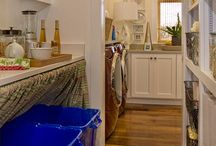 Walk in pantry and laundry combinations