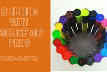 CREATIVE MODELS WITH CONNECTOR PENS / This board is about different creative ideas to built models using Faber-Castell connector pens. Each one is simple and interesting. Have a look on it.
