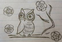 owl tattoos for women