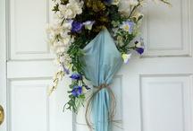 Door seasonal wreaths