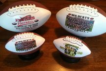 Football Gifts / Get on the Ball Photos creates personalized non-breakable ornaments and sports balls with photos, text and graphics.  These make great gifts for every occasion.