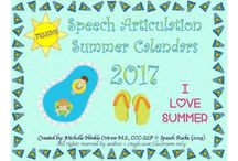 Speech Language Calendars