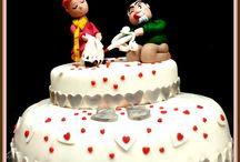 Torta Anniversario 25 matrimonio / www.torteamorefantasia.com