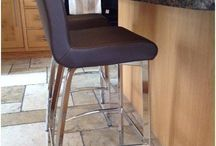 Counter Bar Stools / Counter Bar Stools are fixed Height, not adjustable, and the seat height is correct for use at a standard Breakfast Bar Counter.