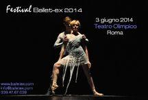 Concorsi Ballet-ex / Concorsi danza ballet-ex_ 12 aèprile teatro Orione roma e 3 giugno, festival ballet-ex teatro Olimpico, Roma