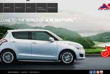 A.M.MOTORS / The Project of a car dealer with almost 152 pages.Each car model has its own custom pages.