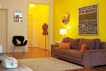 HOME: Yellow living room ideas