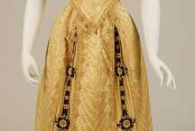Fashion - 1890s / By the beginning of the 1890s, the bustle was reduced in size, and skirts flared at the hem. The gigot (or leg of mutton) sleeve of the 1830s made a comeback, peaking in size around 1895. / by Christina