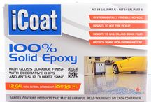 iCoat 100% Solids Epoxy Garage Kit / CTM Adhesives iCoat 100% Solids Epoxy.  This epoxy kit is eco-friendly and contains no solvent (no VOC), allowing for interior application without harmful odors. Comes with decorative chips and anti-slip quartz sand. DIY yourself kit with professional results   / by Diamondblades4us™ - A Cut In The Right Direction