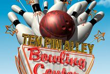 Vintage Neon Bowling Alley Signs
