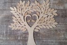 Typ 3 Wedding Tree - Gästebuch zur Hochzeit - Hochzeitsbaum - Blätter