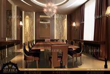 Luxury Dining Room designed by ALGEDRA Interior Design / Luxury Dining Room designed by ALGEDRA Interior Design Algedra Interior Design 800ALGEDRA 8002543372 www.algedra.ae