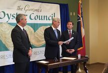 Governor's Oyster Council / In 2004, approximately 400,000 sacks of oysters were harvested from the Mississippi Gulf Coast. By 2014, that number declined almost 83% to only 70,000 sacks. In response, on Feb. 2nd 2015, MS Governor Phil Bryant signed an Executive Order establishing an Oyster Council. 3 Committees: Economy, Environment, and Aquaculture & Emerging Technologies  = 1 #govoystercouncil
