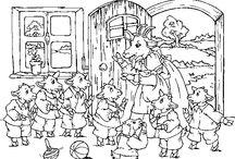 Vlk a sedm kůzlátek / omalovánky