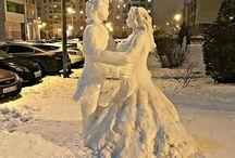 Snow Art and Sculptures