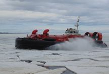 Canadian Coast Guard Hovercraft / CCG hovercraft are based on the east and west coasts as well as the Great Lakes. Roles include SAR and ice-breaking.