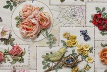 Latest news and releases silk ribbon embroidery / The latest news on Silk Ribbon embroidery / by Di Van Niekerk