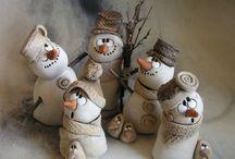 bon hommes de neige galets