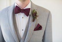 Gray + Burgundy Wedding