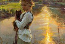 Daniel Gerhartz. I love the light in theis painting..